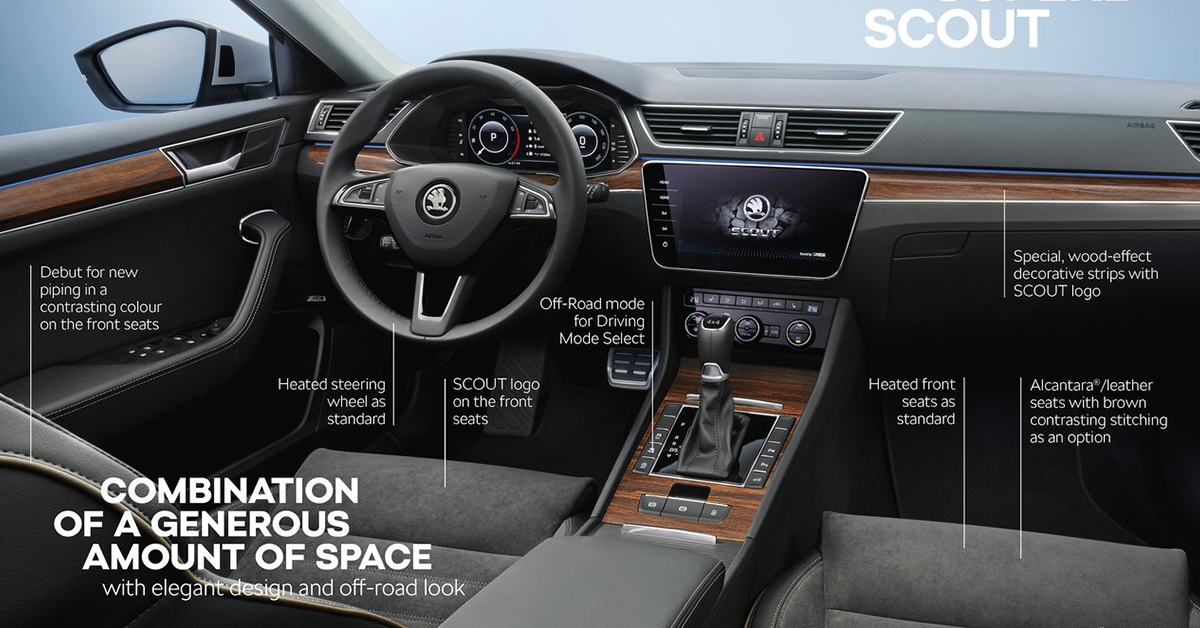 skoda superb novy model autobor borsauto interier